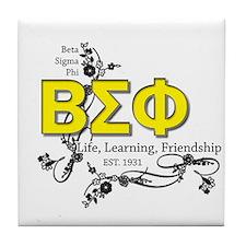 Beta Sigma Phi Tile Coaster