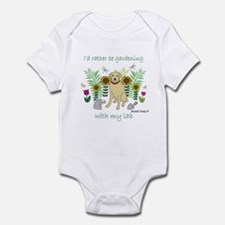 yellow lab Infant Bodysuit