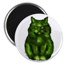 "The fat green cat 2.25"" Magnet (100 pack)"