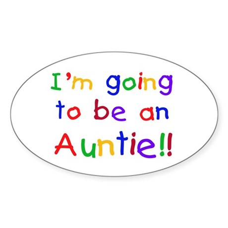 Going to be an Auntie Sticker (Oval 10 pk)