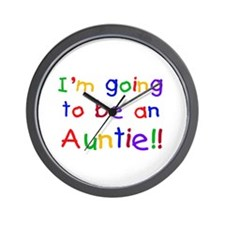 Going to be an Auntie Wall Clock