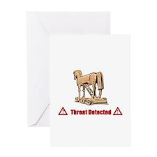 Trojan Horse - Threat Detected Greeting Card