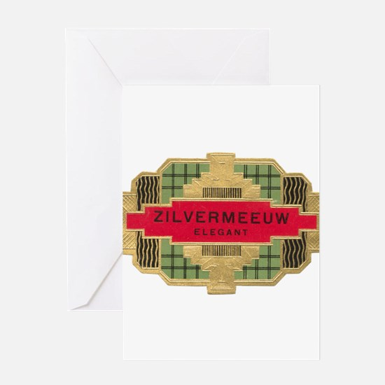 Vintage Cigar Label Greeting Card