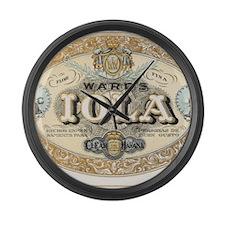 Vintage Cigar Label Large Wall Clock