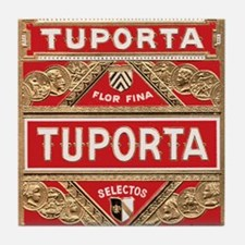 Vintage Cigar Label Tile Coaster