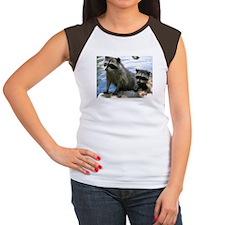 Racoon Buddies Women's Cap Sleeve T-Shirt