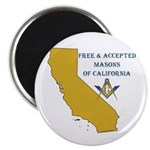 Republic of California Masons Magnet
