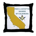 Republic of California Masons Throw Pillow
