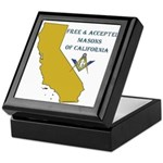Republic of California Masons Keepsake Box