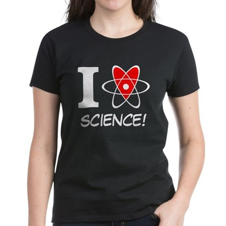 i heart science Women's Dark T-Shirt