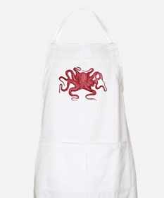 Red Octopus Apron