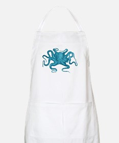 Blue Octopus Apron