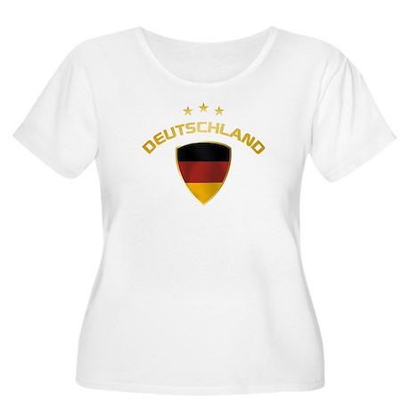 Soccer Crest DEUTSCHLAND gold Women's Plus Size Sc