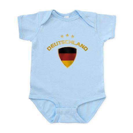 Soccer Crest DEUTSCHLAND gold Infant Bodysuit