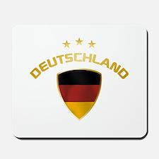 Soccer Crest DEUTSCHLAND gold Mousepad