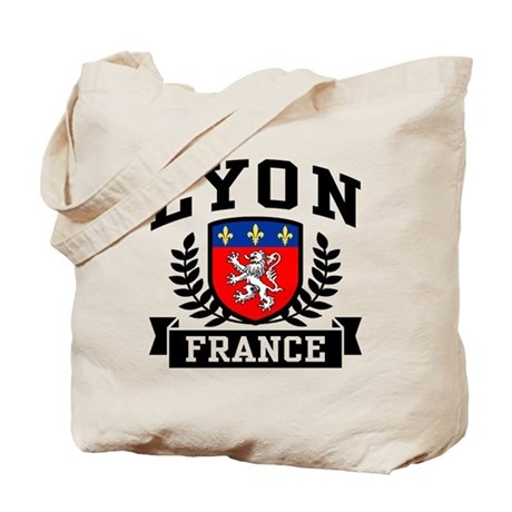 lyon france tote bag by niftetees. Black Bedroom Furniture Sets. Home Design Ideas