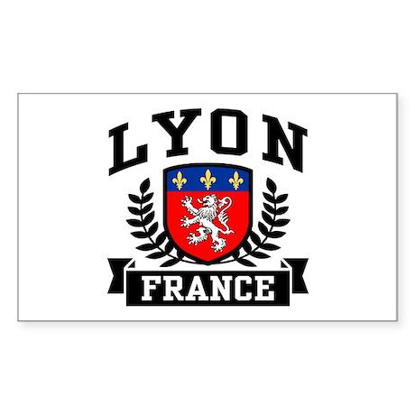 Lyon France Sticker (Rectangle)