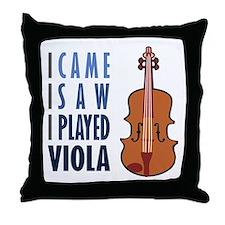 I Play Viola Throw Pillow