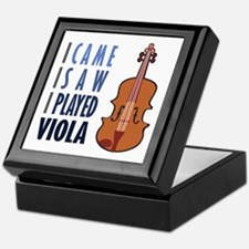 I Play Viola Keepsake Box
