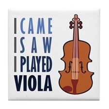 I Play Viola Tile Coaster