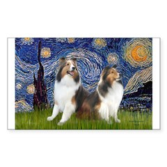 Starry / Two Shelties (D&L) Decal