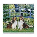 Bridge / Two Shelties (D&L) Tile Coaster