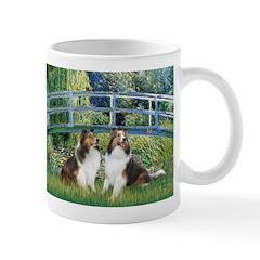 Bridge / Two Shelties (D&L) Mug