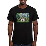 Bridge / Two Shelties (D&L) Men's Fitted T-Shirt (