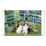 Bridge / Two Shelties (D&L) Sticker (Rectangle 10