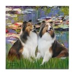 Lilies #2 / Two Shelties Tile Coaster