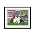 Lilies #2 / Two Shelties Framed Panel Print