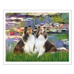 Lilies #2 / Two Shelties Small Poster