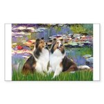 Lilies #2 / Two Shelties Sticker (Rectangle 10 pk)