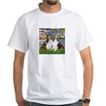 Lilies #2 / Two Shelties White T-Shirt