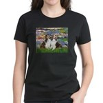 Lilies #2 / Two Shelties Women's Dark T-Shirt