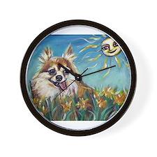 Portrait of Chihuahua Valenti Wall Clock