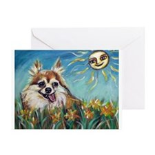 Portrait of Chihuahua Valenti Greeting Cards (Pk o
