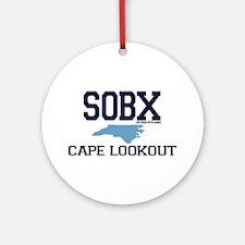 Cape Lookout NC - Map Design Ornament (Round)