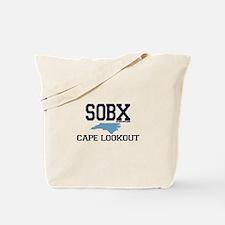 Cape Lookout NC - Map Design Tote Bag