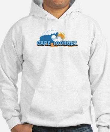 Cape Lookout NC - Waves Design Hoodie