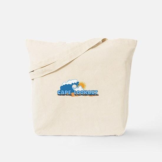 Cape Lookout NC - Waves Design Tote Bag