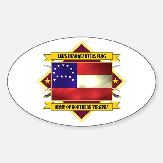 Lee's Headquarters Flag Sticker (Oval)