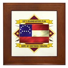 Lee's Headquarters Flag Framed Tile