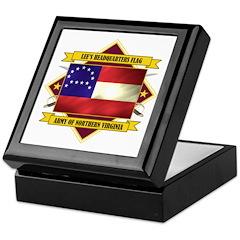 Lee's Headquarters Flag Keepsake Box
