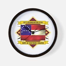 Lee's Headquarters Flag Wall Clock