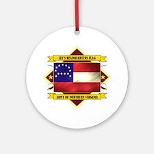 Lee's Headquarters Flag Ornament (Round)