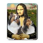Mona Lisa / 2 Shelties (DL) Mousepad