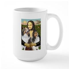 Mona Lisa / 2 Shelties (DL) Mug