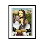 Mona Lisa / 2 Shelties (DL) Framed Panel Print