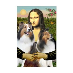 Mona Lisa / 2 Shelties (DL) Posters
